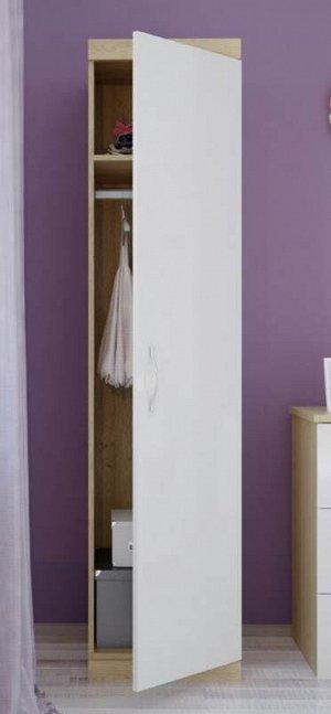 Шкаф детский PK дуб-белый глянец