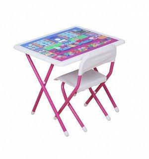 Набор мебели Дэми №к3-06 Свинка Пеппа, цвет белый-розовый