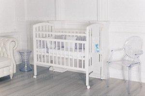 Кроватка Incanto HUGGE колесо, цв.белый