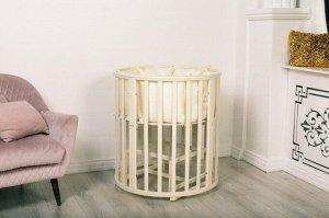 Кроватка Incanto Mimi овальная, цвет слоновая кость