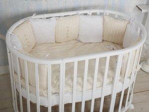 Кроватка Incanto Mimi, овальная, маятник, цвет белый