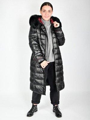 пуховик Пальто, наполнитель файбертек , мех финская лиса Длина 105 см