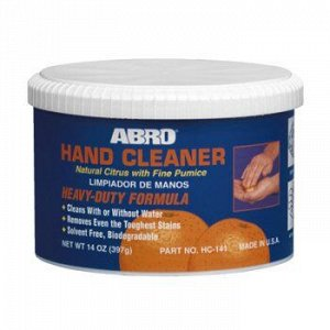 """Рук очист. """"ABRO"""" с абразивом, банка 397 гр."""