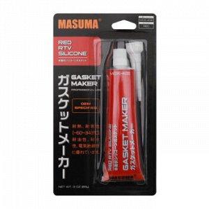 Герметик прокладка MASUMA (высокотемпературный силиконовый), красный, туба 85 гр. (1/12/144)