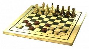 """Игра 2 в1 """"Шахматы, шашки"""" арт.С-11а/В-6 (400*210*35)"""