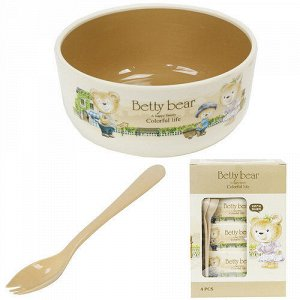 Набор детской посуды Betty Bear / 4 предмета