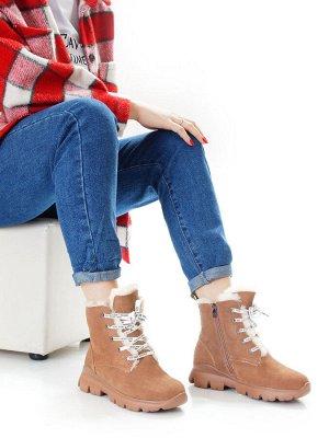 Ботинки Страна производитель: Китай Размер женской обуви x: 35 Полнота обуви: Тип «F» или «Fx» Вид обуви: Ботинки Сезон: Зима Материал верха: Замша Материал подкладки: Искусственный мех Материал подош