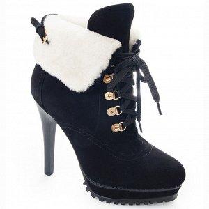 Ботинки Страна производитель: Китай Размер женской обуви x: 37 Полнота обуви: Тип «F» или «Fx» Вид обуви: Ботинки Сезон: Зима Материал верха: Замша Материал подкладки: Натуральный мех Каблук/Подошва: