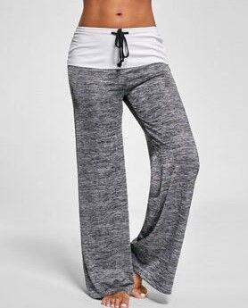 Спортивные брюки женские, серые/белые