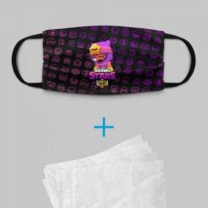 Детская маска (+5 фильтров) «Brawl Stars SANDY»