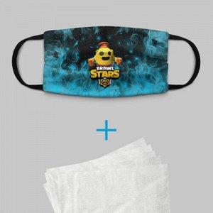 Детская маска (+5 фильтров) «Brawl Stars Robot Spike»