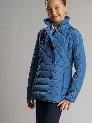 Куртка текстильная для девочек голубой