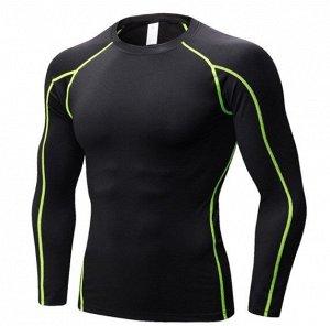 Мужская спортивная кофта, черная, с полосами