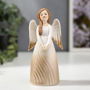 """Сувенир керамика колокольчик """"Девочка-ангел в платье-волна"""" 14,2х5,2х6,7 см"""