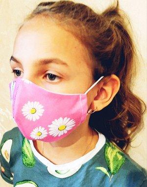 Маска Зайчики приходят разные Двухслойные тканевые маски, состав: 100% хлопок. Ситец, бязь.  Размер 19*10 см- детская, Размер: 22 х 12 см-взрослая Плотность прилегания маски на свое лицо можно отрегул