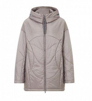 Женская демисезонная легкая куртка с капюшоном, цвет СВЕТЛО-СЕРЫЙ