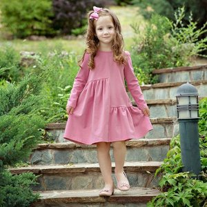 Платье Количество в упаковке: 1; Артикул: BN-147П-167-Р; Цвет: Розовый; Ткань: Кулирка с лайкрой; Состав: 95% хлопок, 5% лайкра; Цвет: Розовый Скачать таблицу размеров