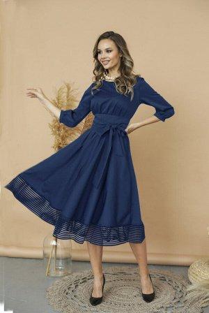 Платье 425/6, темно-синий
