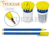 Ручка шариковая с рисунком АВОКАДО, цв. чернил-синий, цв.корпуса МИКС, цв.колпачка желтый, в стакане-подставке. Производство Россия
