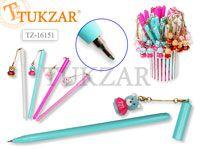 Ручка шариковая с подвеской-брелоком  МИШКА TOY, в стакане, цв.чернил - синий, цвет корпуса микс. Производство Россия.