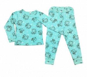 Пижама детская, модель 315, трикотаж (Китти, мята)