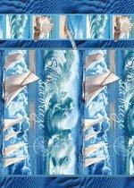 Полотенце вафельное пляжное 80*150 см (Морской бриз)