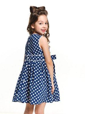 Платье (98-122см) UD 6265(1)син.горошек