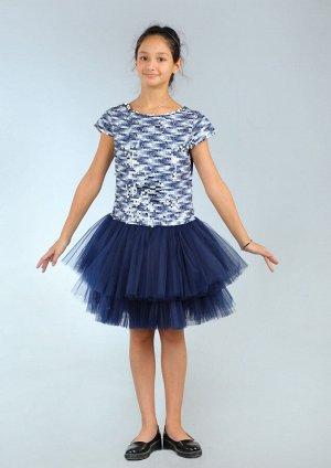Платье Количество в упаковке: 1; Артикул: СС-ПЛ-18227; Цвет: Синий Скачать таблицу размеров                                                 Материал: ПЭ, подклад х/б