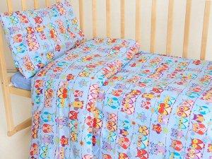"""Комплект постельного белья """"Совушки-1"""" Ясли"""
