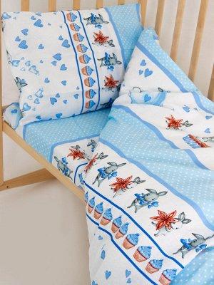 """Комплект постельного белья """"Зайчики"""" Ясли"""