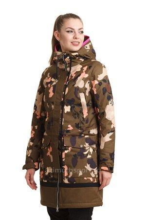 Женская куртка-парка Azimuth B 8472_76 Хаки Коричневый