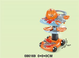 Набор инструментов с тележкой, на колесиках , 45*35*48 см