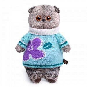 Игрушка мягк. Басик  в весеннем свитере , 22 см.