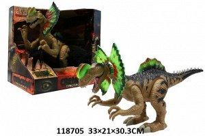 Динозавр на бат., кор.33*21*30,3 см