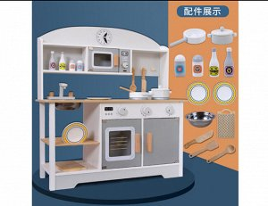 Игрушка деревянная Кухня с аксесс, кор.69*12,5*30 см *