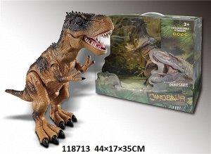 Динозавр р/у., свет звук эффекты , кор.44*17*35 см
