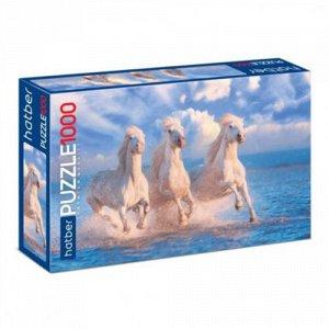 Пазлы 1000 Premium Тройка лошадей  (45*68 см),32,7*5,4*21,3 см