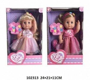 Кукла Белла, с заколками,кор.24*21*11 см