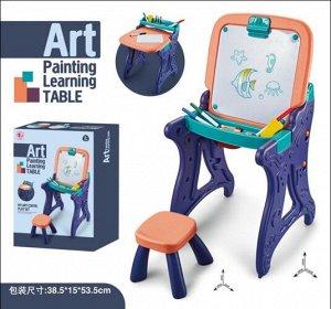 Набор Стол-мольберт для рисования, со стульчиком ,кор.52*15*38 см