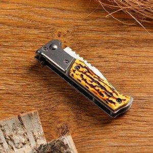 Нож выкидной Мастер К, полуавтомат, кнопка, предохранитель, лезвие 8.7 см, рукоять 11 см