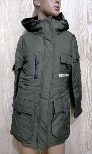Парка Мех на капюшоне об,груди92,дл,куртки73,дл,рукава58