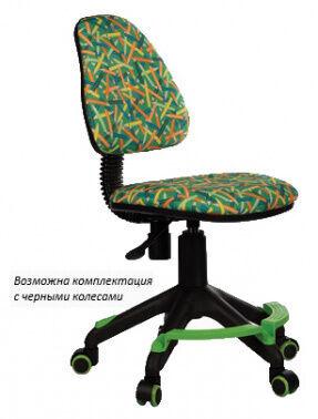 Кресло детское Бюрократ KD-4-F зеленый карандаши крестовина пластик подст.для ног