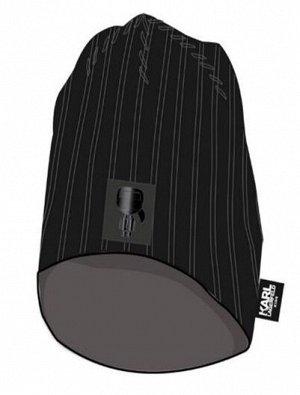 Шапка Вязаная шапка из хлопка, двухслойная 09B - BLACK