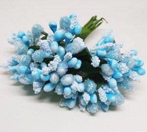 Букетик декоративный в обсыпке, Голубой