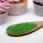 """Драже сахарное Бисер цветной  """"зеленый"""" 50 г"""
