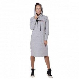 Платье из футера I understand ФП1357П10 серый меланж