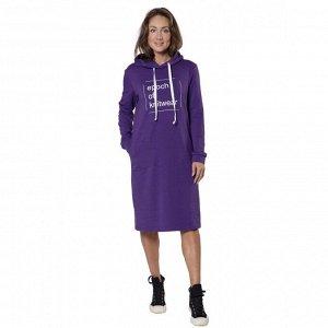 Платье из футера Еpoch of knitwear фиолетовое ФП1357П1