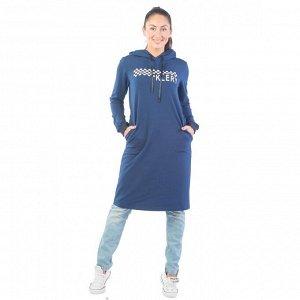 Платье из футера ФП1357П6 индиго