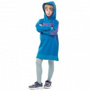 Платье детское Klery шашки ФП5013П1 бирюзовый