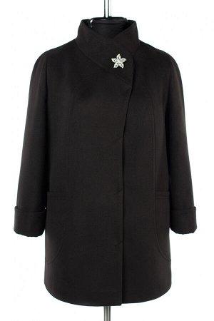 01-10245 Пальто женское демисезонное Пальтовая ткань черный